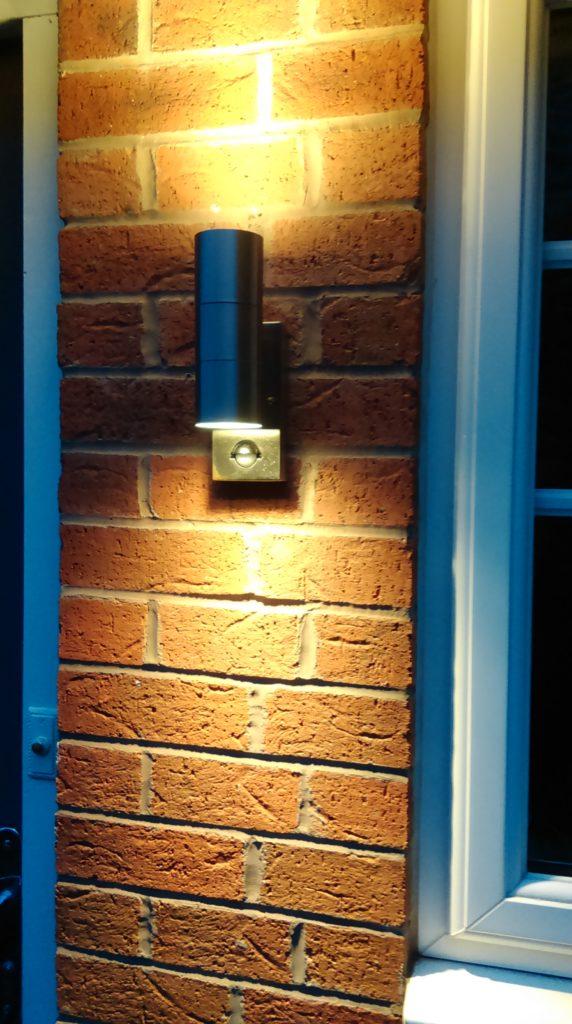 New LED up/down light installed